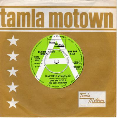 Earl Van Dyke and the Soul Brothers - I Can't Help Myself / How Sweet It Is (To Be Loved By You) - Tamla Motown TMG 814 DJ