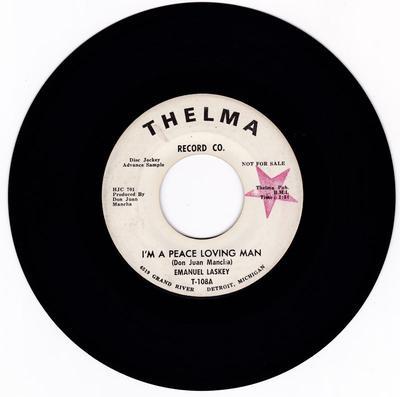 Emanuel Laskey - I'm A Peace Loving Man / Sweet Lies - Thelma T-108 DJ