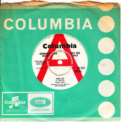 Major Lance - Come See / You Belong To Me My Love - Columbia DB 7527 DJ