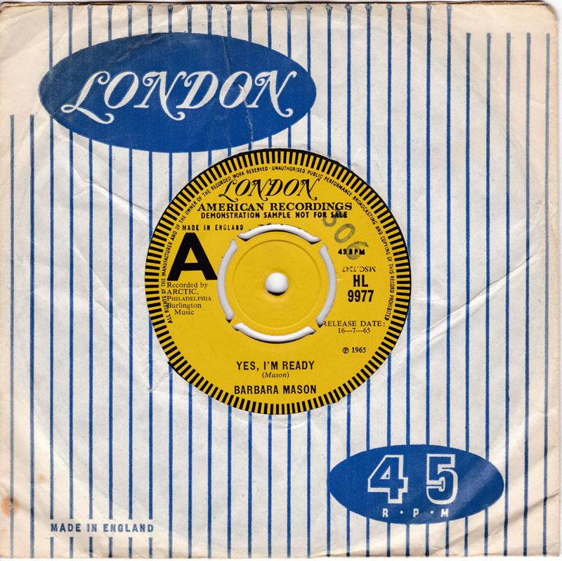 Barbara Mason - Yes I'm Ready / Keep Him - London HL 9977 DJ .