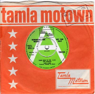 Chris Clark - From Head To Toe / The Beginning Of The End - Tamla Motown TMG 624 DJ