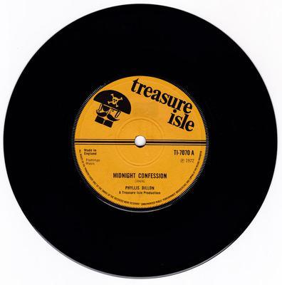 Phyllis Dillon / Tommy McCook - Midnight Confessions / Midnight (version) - Treasure Isle TI 7070