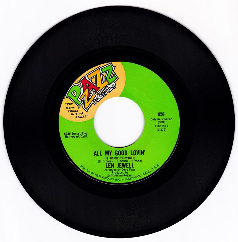 Len Jewell - All My Good Lovin' / The Elevator Song - Pzazz 050