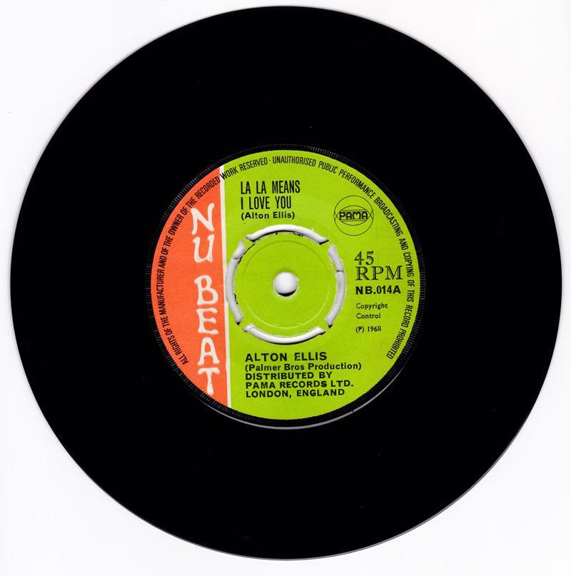 Alton Ellis - La La Means I Love You / Give Me Your Love - Nu Beat NB 014