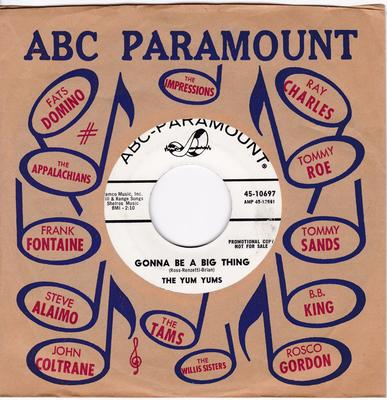 Yum Yums - Gonna Be A Big Thing / Looky Looky ( What I Got ) - ABC Paramount 10697 DJ