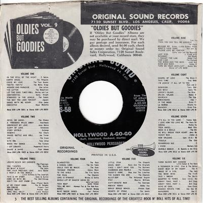 Hollywood Persuaders - Hollywood A-Go-Go / Eve Of Destruction - Original Sound OS-58