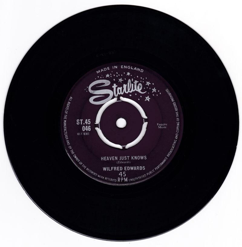 Wilfred Edwards - Whenever There's Moonlight / Heaven Just Knows - Starlite ST 45 046