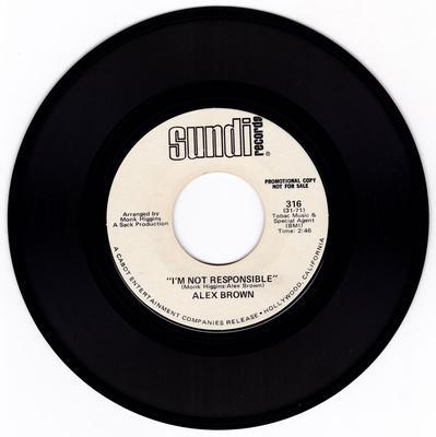 Alex Brown - I'm Not Responsible / Something - Sundi 316 DJ