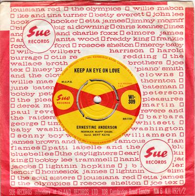 Ernestine Anderson - Keep An Eye On Love / Continental Mind - Sue WI 309