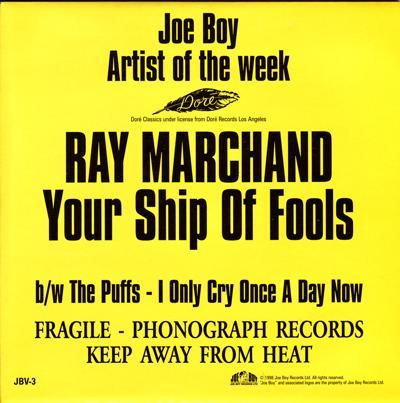Your Ship Of Fools/ I Only Cry Once A Day Now
