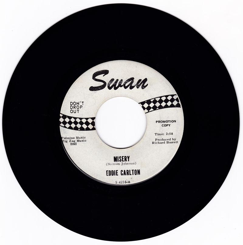 Eddie Carlton - Misery / It Will Be Done - Swan 4218 DJ