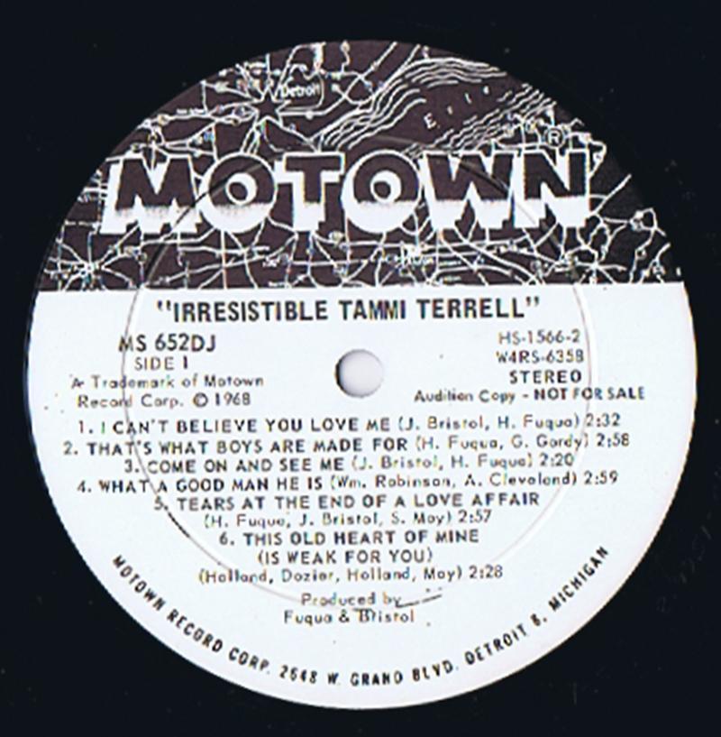 Tammi Terrell - Irresistible / 1968 USA white demo - Motown MS 652 DJ