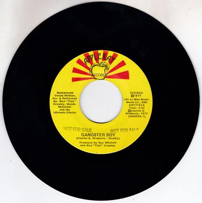 Wanda McDaniel and The Ultimate Choice - Gangster Boy / All You Need Is Time - Appleray AR77101 DJClassy