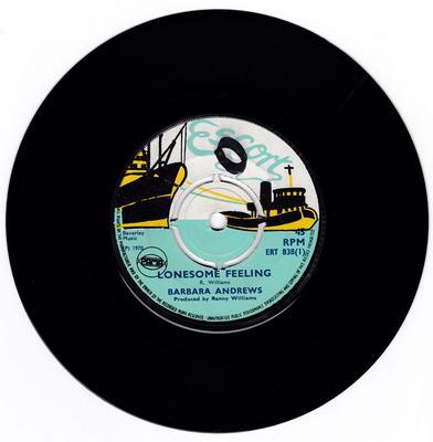 Barbara Andrews / Ranny Bop - Lonesome Feeling / Hop Scotch - Escort ERT 838