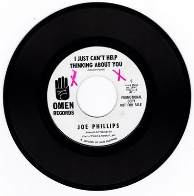 Joe Philips - I Just Can't Help Thinking About You / Can't Help But To Love You - Omen PROMO