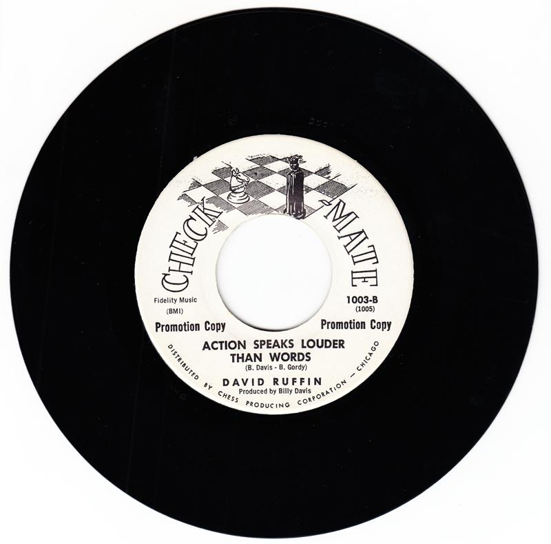 David Ruffin - Action Speaks Louder Than Words / You Can Get What I Got - Check-Mate 1003 DJ
