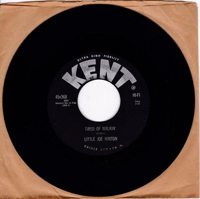Little Joe Hinton - Tired Of Walkin' / The Whip Twist - Kent 368