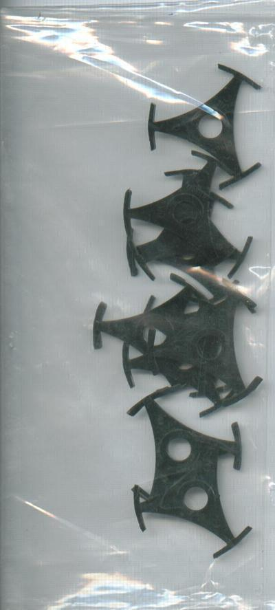 10 X Tri Prong Plastic 45 Record Centers/ Packet Of 10 X Record Middles