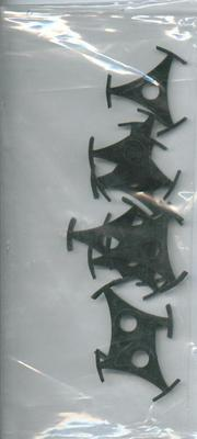 Image for 10 X Tri Prong Plastic 45 Record Centers/ Packet Of 10 X Record Middles