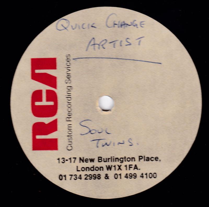Soul Twins - Quck Change Artist / blank - RCA 10