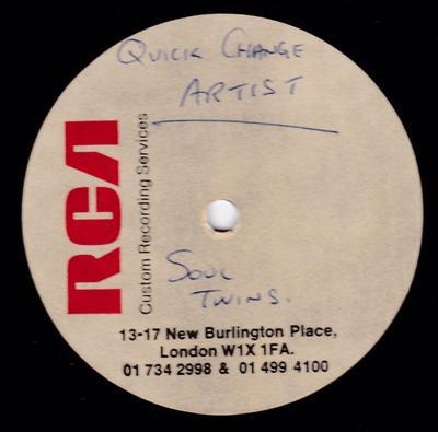"Soul Twins - Quck Change Artist / blank - RCA 10"" acetate"