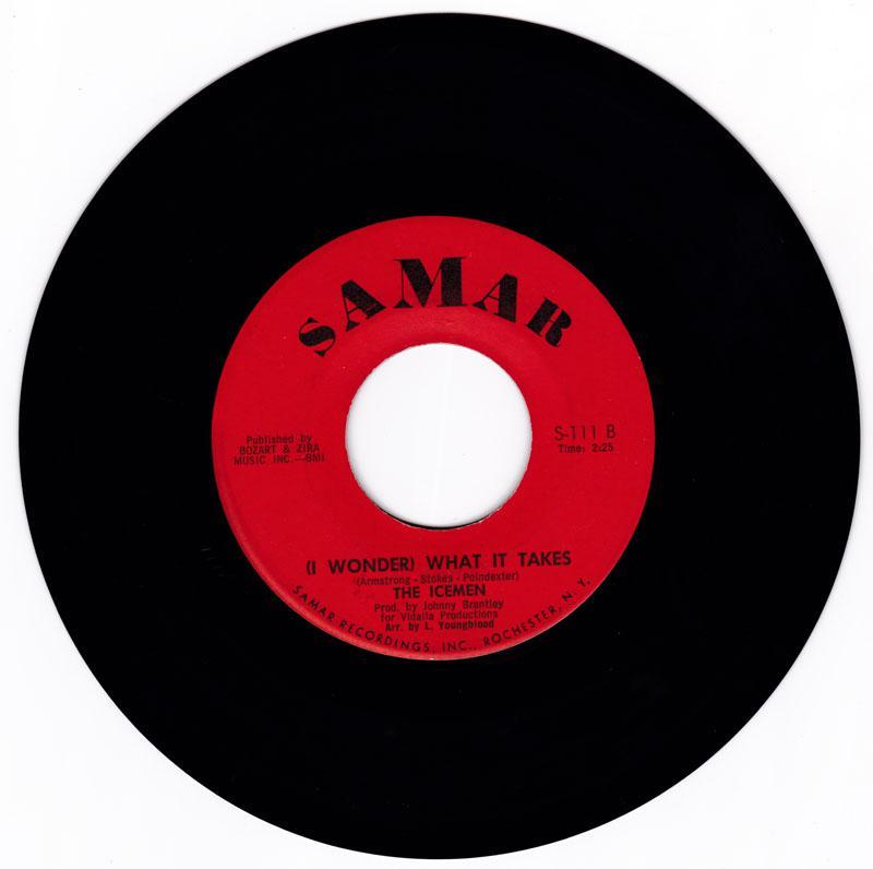 Icemen - ( I Wonder ) What It Takes / ( My Girl ) She's A Fox - Samar 111
