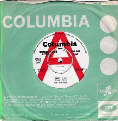 C-Jam Blues - Candy / Stay At Home Girl - Columbia DB 8064 DJ