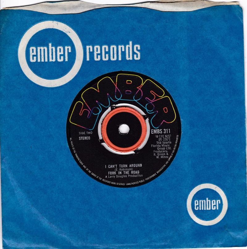 Fork In The Road - I Can't Turmn Around / Skeletons In My Closet - Ember EMBS 311 DJ