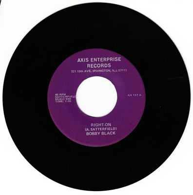 Bobby Black - Right-On / Preacher's Daughter - Axis Enterprise AX 117