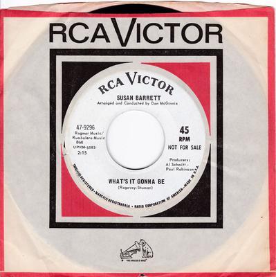 Susan Barrett - What's It Gonna Be - RCA 47-9296 DJ