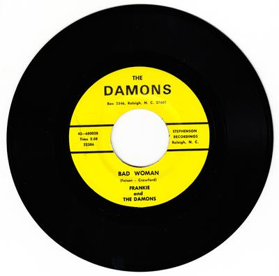 Frankie and the Damons - Bad Woman / My Best Friend - The Damons 68002