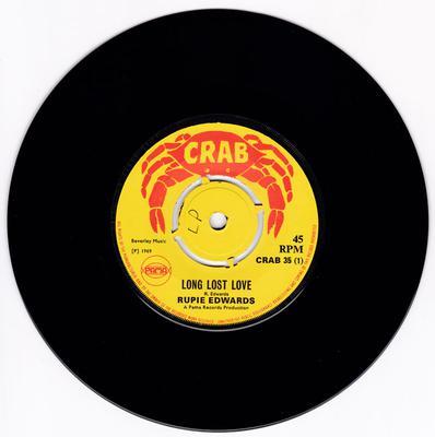 Rupie Edwards - Long Lost Love / Uncertain Love - Crab 35