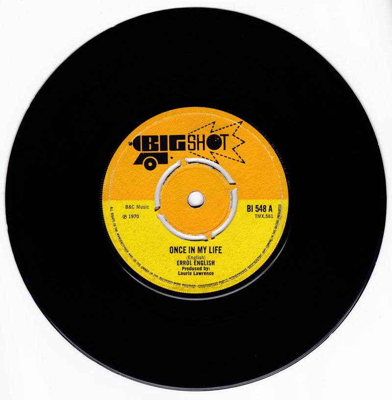 Erroll English - Once In My Life / Rabbit In A Cottage - Big Shot BI 548