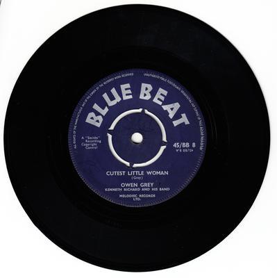 Owen Gray - Cutest Little Woman / Running Around - Blue Beat BB 8