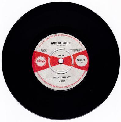 Derrick Harriott c/w Bobby Ellis  - Walk The Streets / Step Softly - Island WI 3077