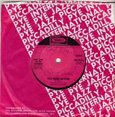Jimmy James - This Heart Of Mine / I Don't Wanna Cry - Piccadilly 7N 35331