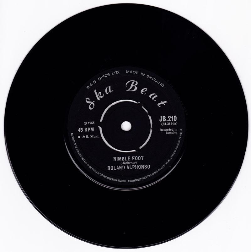 Roland Alphonso - Nimble Foot / Love Is Stronger - Ska Beat JB 210