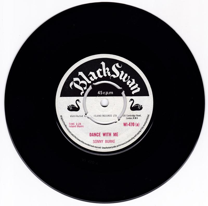 Sonny Burke - Dance With Mer / My Girl Can't Cook - Black Swan WI 470