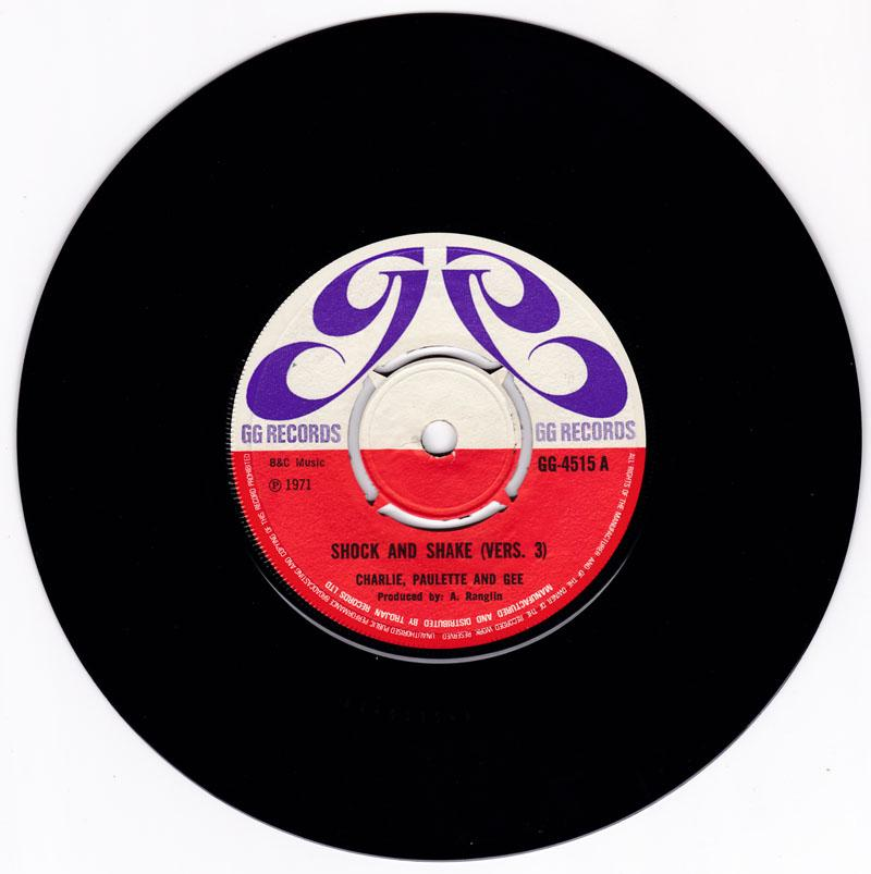 Charlie, Paulette and Gee - Shock And Shake (vers 3) / Roll On (vers 2.) - GG Records GG 4515