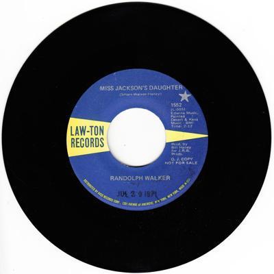 Miss Jackson's Daughter/ Same: 2.59 Mono Version