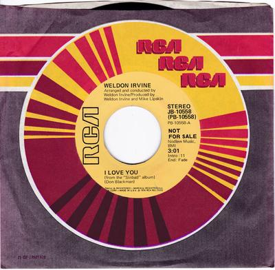 Weldon Irvine - I Love You / What's Going On - RCA 10558 DJ