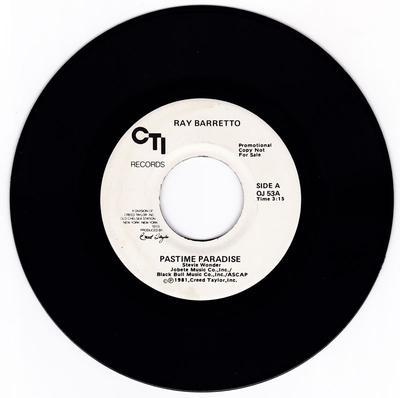 Ray Barretto - Pastime Paradise / La Cuna - CTI OJ 53 DJ