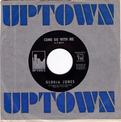 Gloria Jones - Come Go With Me / How Do You Tell An Angel - Uptown
