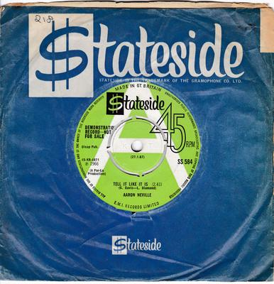 Aaron Neville - Tell It Like It Is / Why Worry - Stateside SS 584 DJ