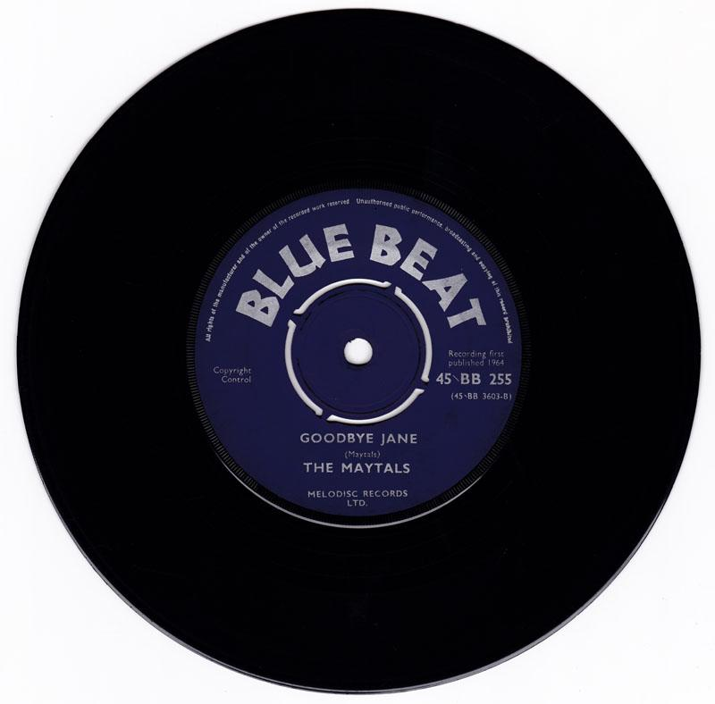 Maytals - Judgment Day / Goodbye Jane - Blue Beat BB 255