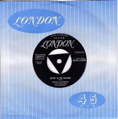 Eddie Cochran - Sittin' In The Balcony / Completely Sweet -  London HLU 8433 tri