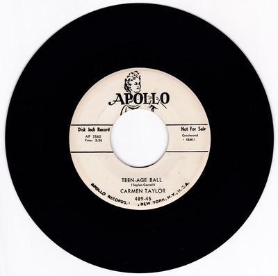 Carmen Taylor - Teen-Age Ball / Oh Please - Apollo 489 DJ