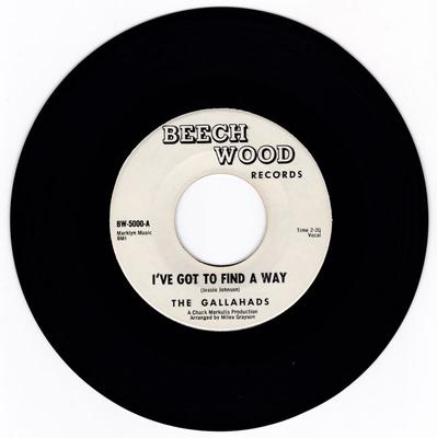 Gallahads - I've Got To Find A Way / Once I Had A Love - Beech Wood 5000