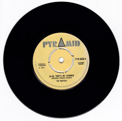 Maytals - 54-46, That's My Number / Dreamland - Pyramid PYR 6030