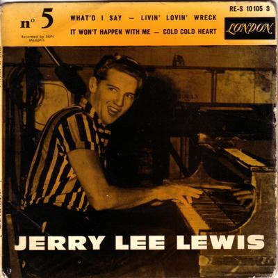 Jerry Lee Lewis No. 5/ 62 French 4 Track Ep + Cover